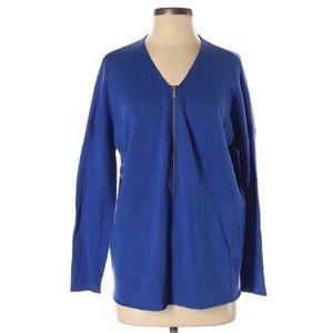 The Kooples Merino Wool Cashmere Half Zip Sweater